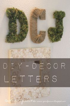 Simply Ciani: DIY Moss & Rope Letters