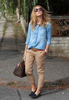 Chic Ways to Wear Khaki Pants
