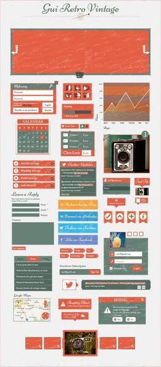 PSD | #design #retro #ui #ux #mobile
