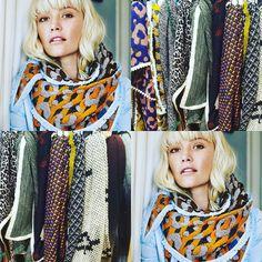 Wat een feest de nieuwe collectie van Pom. Deze mooie sjaals toveren bij iedereen een lach op zijn gezicht #pomamsterdam #scarf #sjaals #fashion #women #theseasontosparkle