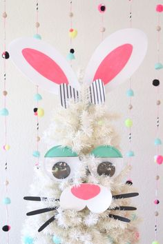Easter is one of Jennifer Perkins' favorite holidays to decorate for. See how she used vintage Easter decorations on her colorful Treetopia Christmas trees! Easter Crafts To Make, Bunny Crafts, Colorful Christmas Tree, Christmas Tree Decorations, White Christmas, Christmas Trees, Christmas Greetings, Easter Tree, Easter Bunny