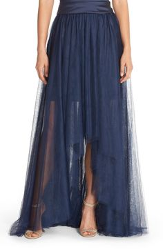 Monique LhuillierBridesmaids High/Low Tulle Overskirt