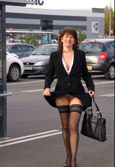Pantyhose girl flashing