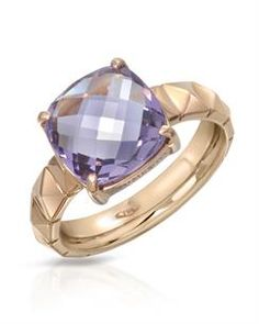 CHIMENTO ARMILLAS PYRAMIS GEMS SC Collection - Made in Italy - Ring with 3.50ctw Genuine Amethyst beautifully designed in 18k Rose Gold. Total item weight 6.5g - Size 6.5 - Certificate Available.