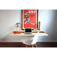 Orange22 Botanist Floating Wall Desk | AllModern | With retractable tray