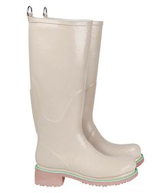 Look at this #zulilyfind! Camel & Mint Rain Boot #zulilyfinds