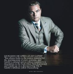 Leonardo DiCaprio as Jay Gatsby photographed by Hugh Stewart