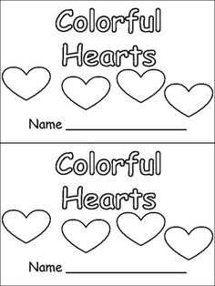 Fun Emergent Reader for Valentine's Day!! Practice color and number words!!