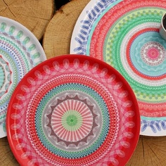 spirograph patterned plates