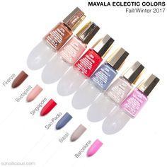 Mavala Eclectic Colors collection    Fall Winter 2017 nail polish colours