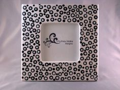 White Bubbles Frame by chutneyblakedesigns on Etsy, $29.50