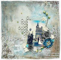 How to create mixed media background using sprays and embossing powders on chipboards. Start to finish scrapbooking layout.