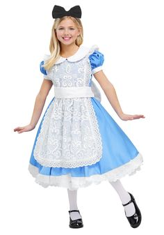 Graceful Alice's Adventures In Wonderland Girls Costume Halloween Disfraces For Kids Carnival Enfant Cosplay Costumes Uk, Halloween Costumes For Girls, Girl Costumes, Alice Costume, Bunny Costume, Alice Cosplay, Fancy Dress, Dress Up, Costume Carnaval