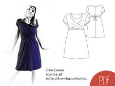 sewing pattern dress Loures woman dress pattern by SCHNITTBOX