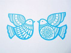 Scandinavian style Dove Games screen print by Jane by Janefoster