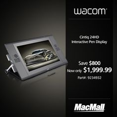 Unleash your creativity & save $800 on a @Wacom #Cintiq 24HD interactive display at MacMall. #DailyDeal