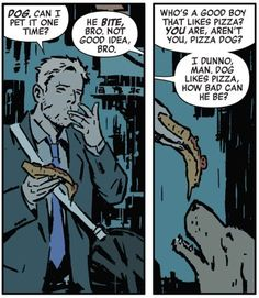 Pizza Dog, a.k.a. Lucky. | Community Post: 24 Reasons Why You Should Be Reading Matt Fraction's Hawkeye