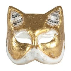 Cat Mask Gold, $74, now featured on Fab.