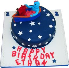 In The Night Garden Birthday Cake Iggle Piggle Personalised Cakes | Kimbos Cakes