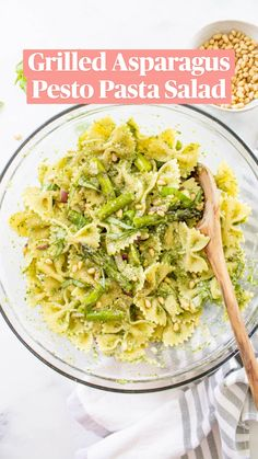 Pesto Pasta Salad, Asparagus Pasta, Easy Pasta Salad, Grilled Asparagus, Grilled Vegetables, Veggies, Vegan Bbq Recipes, Summer Grilling Recipes, Vegan Grilling