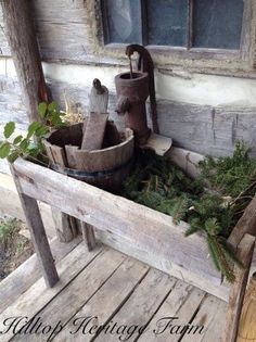Garden and Landscape project Idea Project difficulty: Simple www. - Shared Hosting - Garden and Landscape project Idea Project difficulty: Simple www. Primitive Homes, Country Primitive, Primitive Decor, Prim Decor, Country Decor, Rustic Decor, Rustic Charm, Vintage Decor, Bonsai
