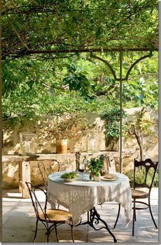 Covered terrace, al fresco dining in Provence- Covered terrace, al fresco dining in Provence garden inspiration rustic garden inspiration terraces