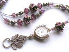 Beaded Lanyard ID Badge Holder Watch Lanyard Flower Garden Lariat heart floral. Lanyard Necklace, Beaded Necklace, Beaded Lanyards, Beaded Jewelry Designs, Beaded Purses, Jewelry Crafts, Jewelry Ideas, Badge Holders, Jewelry Necklaces