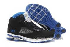 http://www.jordannew.com/mens-nike-air-max-jordan-5-shox-shoes-black-white-blue-new-style.html MEN'S NIKE AIR MAX JORDAN 5 & SHOX SHOES BLACK/WHITE/BLUE NEW STYLE Only $95.15 , Free Shipping!