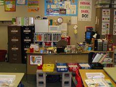 Teacher desk area