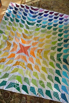 "Wow! How fun is this ""Crazytown"" quilt by Lee Heinrich of Freshly Pieced?!?"