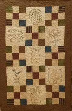 """""""Stitches and Patches"""" by Jenifer Gaston-pattern, quilt kit, quilting, jenifer gaston, sewing, willow, sunflower, pattern"""