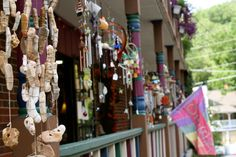 Wind chimes in Eureka Springs. We actually got to know the owner of this shop!!!  Nice fella!
