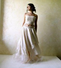 Boho Wedding Dress Fairy Wedding Dress Hippie wedding от LoreTree
