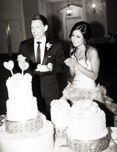Wedding Cake Photography: Blaine Siesser Photography - www.blainesiesser.com/  Read More: http://www.stylemepretty.com/2015/01/02/elegant-cranbrook-gardens-art-museum-wedding/