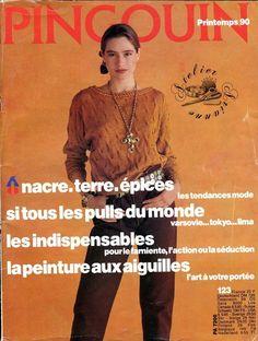 ❤ TRICOT - modèles ❤ Magazine PINGOUIN mode Printemps 90 n.123, G.363 : 4,99 EUR