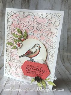 Bird Ballad - Part 2 These are the samples I made for Stampin' Up! Onstage New Zealand display boards using the Bird Ballad Suite that I u. Feather Crafts, Bird Crafts, Laser Paper, Kylie, Bee Cards, Stampin Up Catalog, Stamping Up Cards, Animal Cards, Catalogue