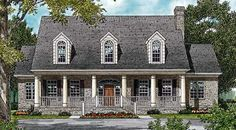 House Plan 85550 | Colonial   Cottage   Country   Farmhouse   Plan with 4176 Sq. Ft., 5 Bedrooms, 4 Bathrooms, 2 Car Gar