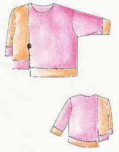 Lagenlook,  Einzel - Schnittmuster, Shirt Memphis from Creativ-Production by DaWanda.com