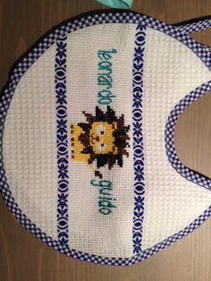 Cross stitch baby bib