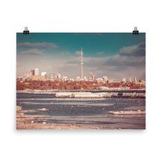 Poster of Toronto Downtown view - CN tower - Canada - Toronto photographer - Photo Print - Home Decor - Wall Art Toronto Photographers, Poster Making, Home Decor Wall Art, Cn Tower, Giclee Print, Canada, Nature, Prints, Etsy