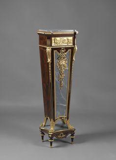 A Fine Louis XVI Style Gilt-Bronze Mounted Pedestal  French, Circa 1880.