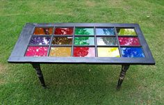 Got a spare door? Why not turn it into this DIY stained glass table! We'll be on the lookout for old doors, how about you? http://theownerbuildernetwork.co/ujop