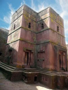 Church of St. George (Lalibela, Ethiopia)    Possibly the most famous of Lalibeliâ churches, the Church of St. George is completely carved out of stone in the shape of a cross.