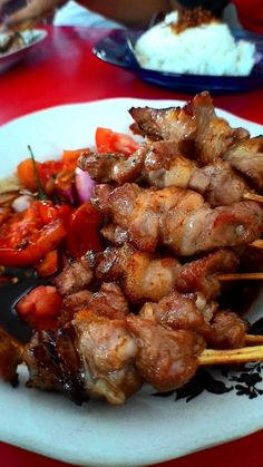 Tegal City in Central Java, lamb satai is a very popular street food.