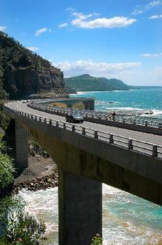 Grand Pacific Drive - Sydney to Wollongong and Beyond: Sea Cliff Bridge, Grand Pacific Drive  #Australia