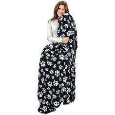 "Super Cozy™ Fleece Plush Paw Print Blanket - KING SIZE PAW BLABKET 102"" x 86""  #AnimalResvue #josam1129 #SuperCozyPawPrintBlanket #PlushPawPrintBlanket #PawPrintKINGBLANKET #DogLoveBlanket"
