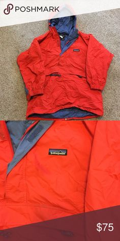 "Rain jacket pull over kids size 10 Size 10 kids Patagonia raincoat pull over. Can fit a petite woman. It fits me and I am 5'4"". Perfect condition! Patagonia Jackets & Coats Trench Coats"