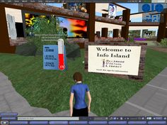 Info Island International, Welcome Sign - Second Life 5 Aug 2009