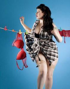 Pin up girls used to be curvy, if you weren't aware.