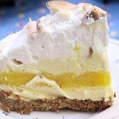 Lemon Meringue Ice Cream Pie Recipe from Mamma's Recipes